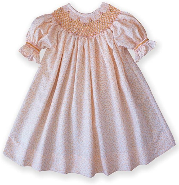 375e1d082 Amazon.com  Carouselwear Girls Smocked Floral Bishop Dresses ...
