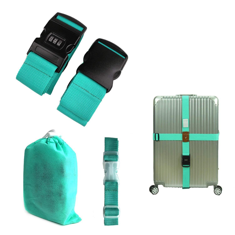 CHMETE Travel Suitcase Belts/Luggage Straps 2pcs-Yellow CHMETE3525
