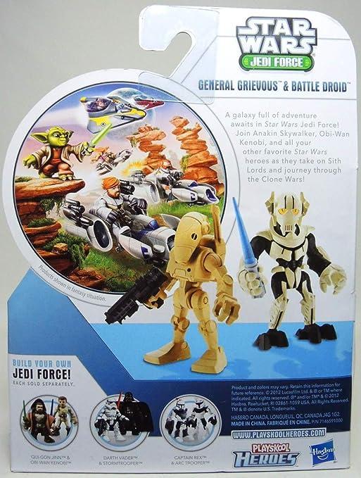 Playskool Star Wars Galactic Heroes Jedi Force GENERAL GRIEVOUS w// Lightsaber