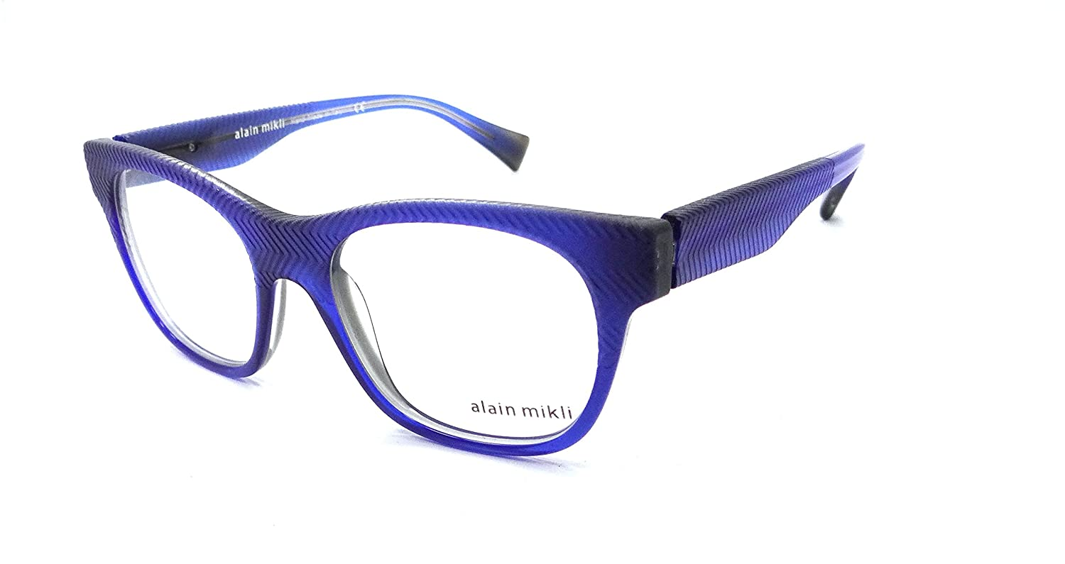 194adb3ce4f Amazon.com  Alain Mikli Rx Eyeglasses Frames A03025 3413 51x18 Blue Made in  Italy  Clothing