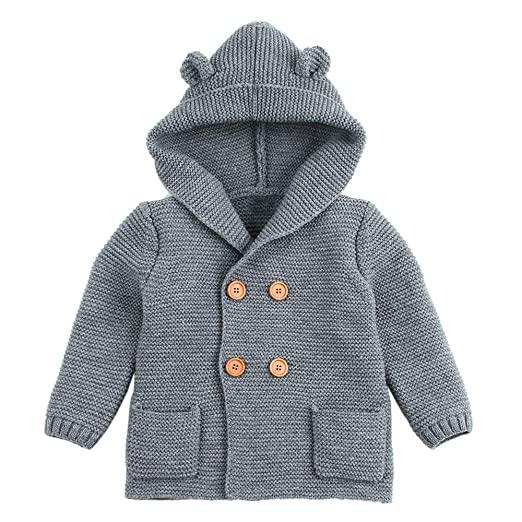 aa17711da852 Amazon.com  Sameno Toddler Baby Boys Girls Ears Knitted Sweater ...