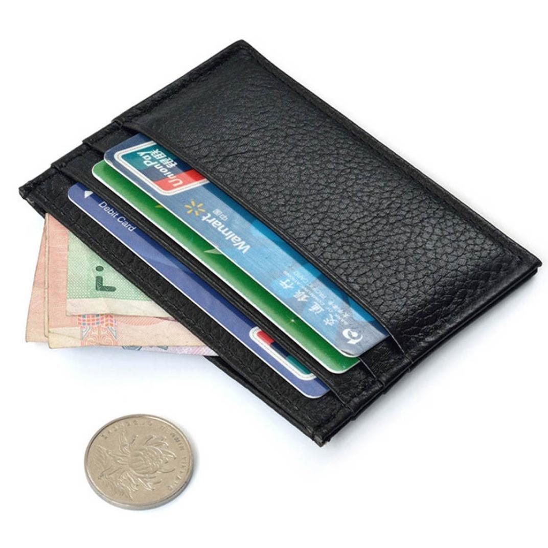 Toraway Wallet Slim Credit Card Holder Mini Wallet ID Case Purse Bag Pouch Black