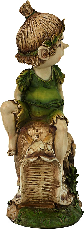 Design Toscano Elfe Perry Gartenstatue Elfenhafter Gartenzwerg
