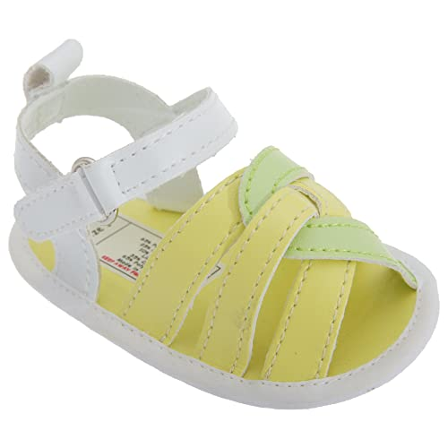 Universal Textiles - Sandalias de vestir para niña Multicolor multicolor amarillo amarillo Talla:12-18 Mo.: Amazon.es: Bebé
