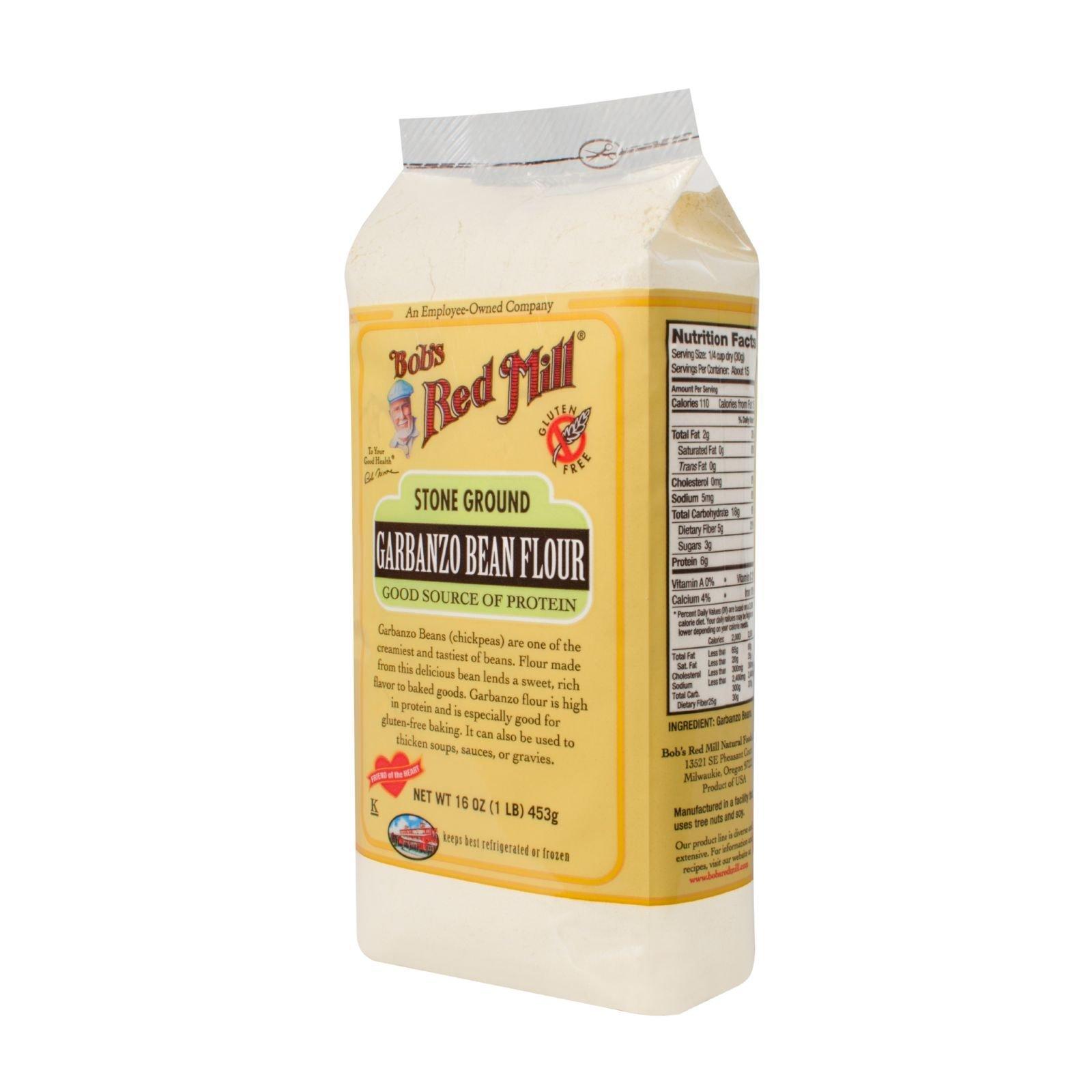 Bobs Red Mill Garbanzo Bean Flour - 16 oz - Case of 4 - Gluten Free -