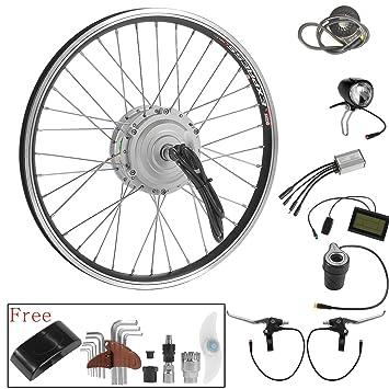 36V250W Rueda Delantera Motor Kit de Conversión Bicicleta Eléctrica 20 Pulgadas con Hub Motor Brushless Geared