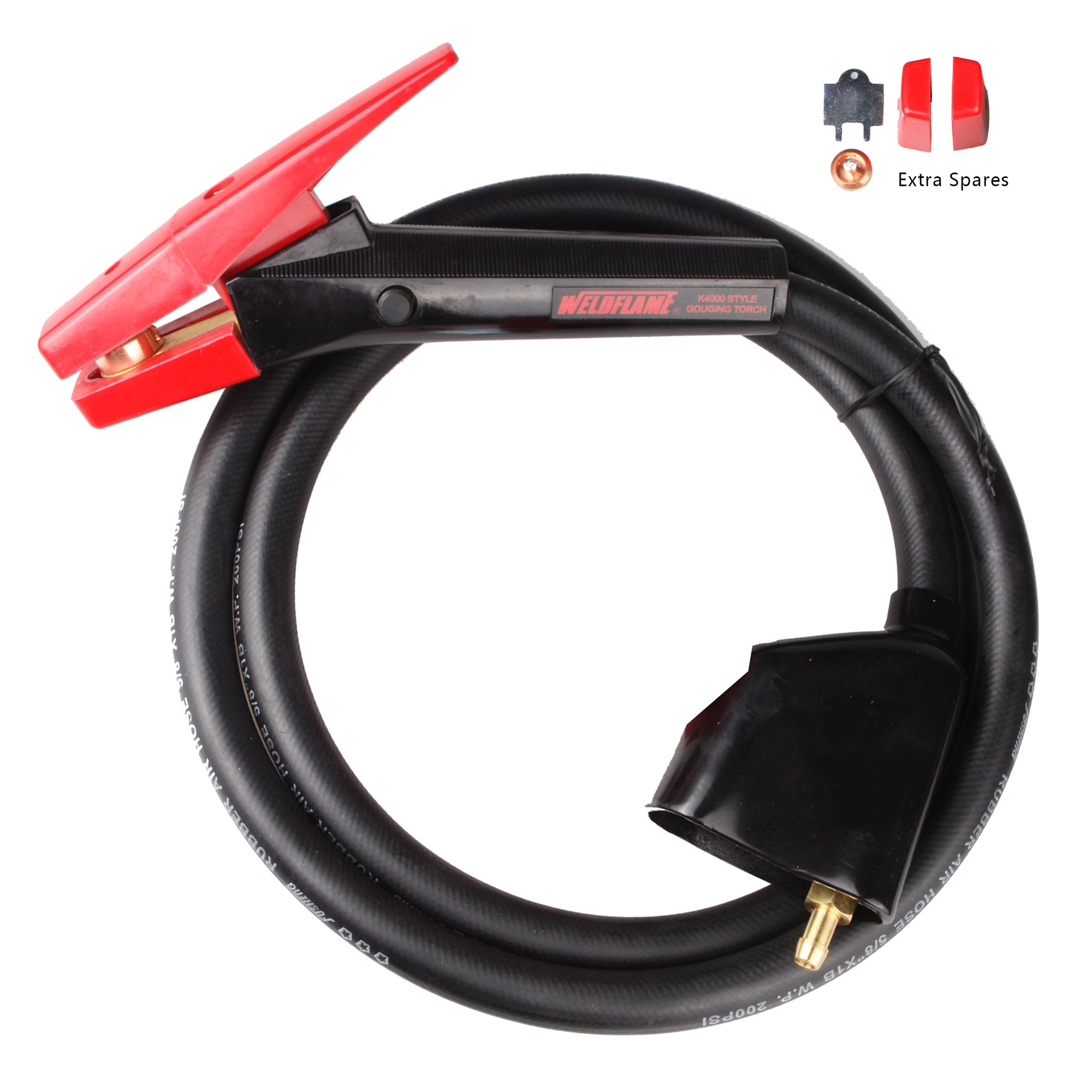 Weldflame 1000 Amp K4000 Style Carbon Arc Gouging Torch with 7' Cable