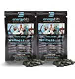 ENERGYbits Purest Spirulina Algae Tablets Organically Grown, Non-GMO, vegan, paleo, ketogenic, raw. One ingredient- 100% pure green Spirulina Plantensis, 2 Single Servings