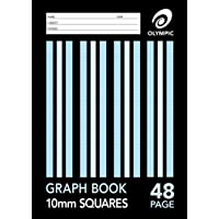 Olympic A4 Graph Book - 48 Page - 10mm Grid - Pack of 20