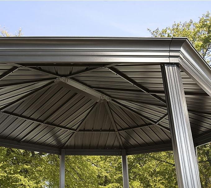 Sojag Gazebo Komodo - Cenador de aluminio para jardín (12 x 18 ...