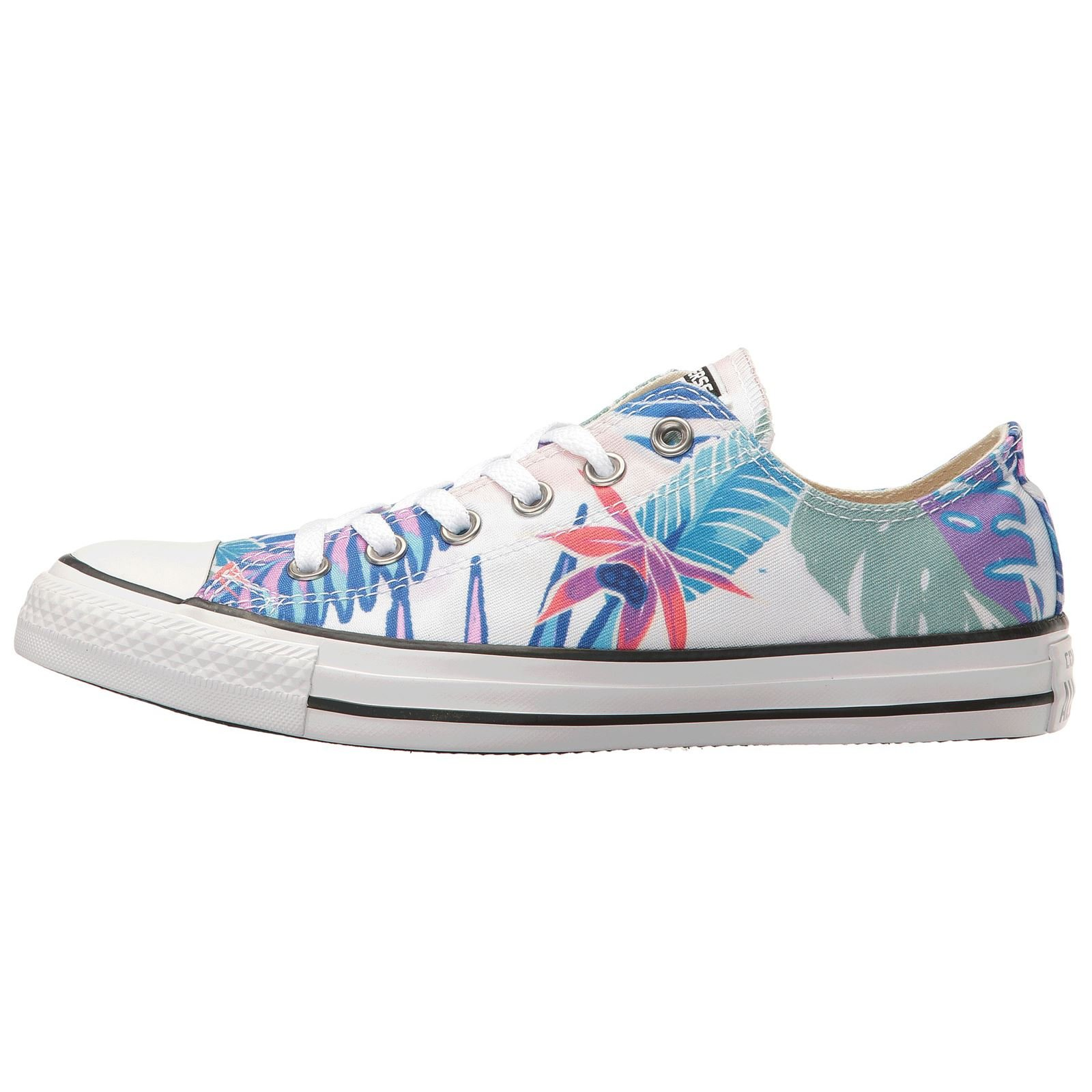 c69d5c4cde2113 Galleon - Converse Mens Chuck Taylor All Stars Tropical Print OX Low Top  Multi Canvas Trainers 8 US