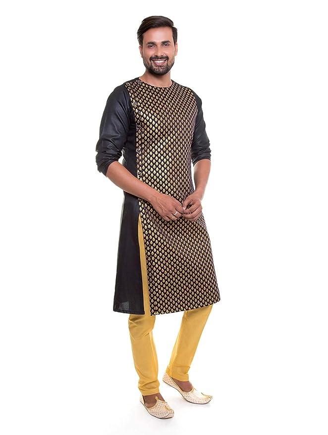 2ec019e0b1 S9 Men Indo Western Kurta Pajama Set with Scarf: Amazon.in: Clothing &  Accessories