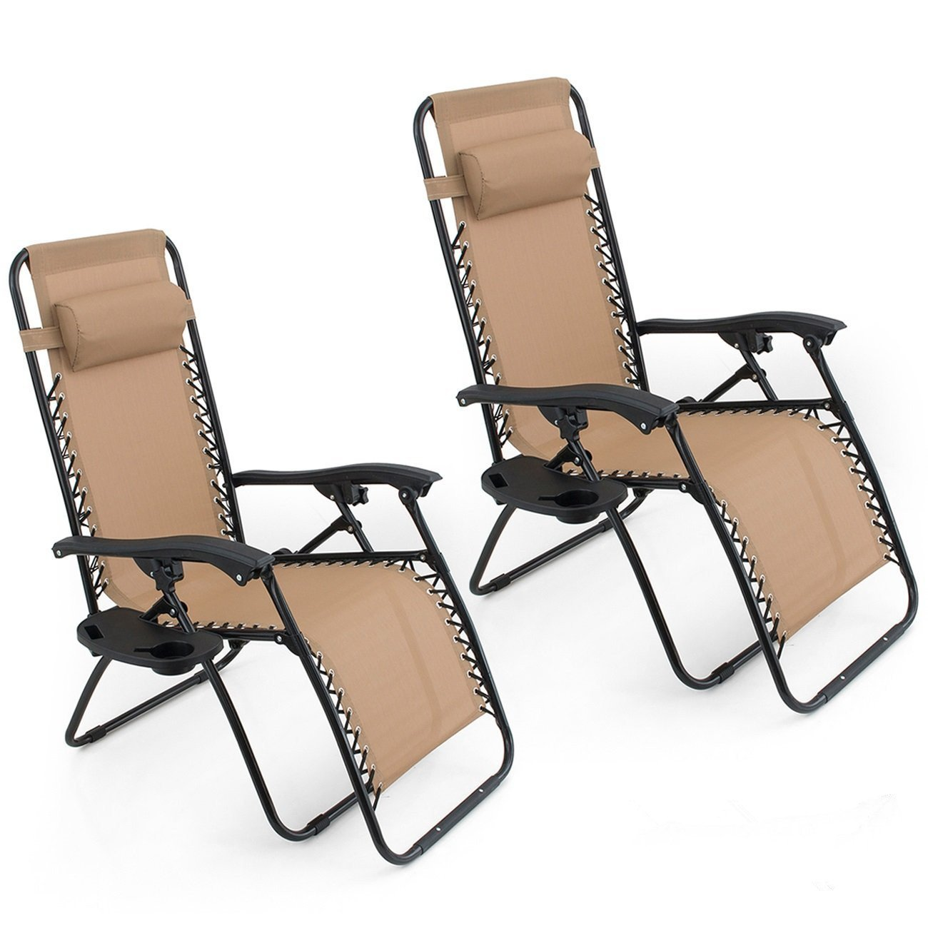 Amazon.com : Oshion 1 Pair Zero Gravity Chairs Black Lounge Patio Chairs  Outdoor Yard Beach New (Tan) : Garden & Outdoor - Amazon.com : Oshion 1 Pair Zero Gravity Chairs Black Lounge Patio