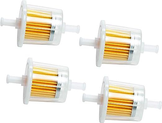 4 GENUINE KUBOTA DIESEL ENGINE FUEL FILTER PART  12581-43012 inline filter OEM