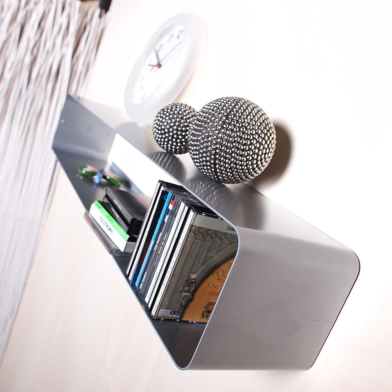 SCAFFALE MOBILE PORTA CD IN STILE RETRO | 80 cm, metallo, apx. 70 cds, argento | scaffale da parete XTRADEFACTORY GMBH