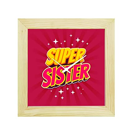 Buy YaYa CafeTM 8x8 Inches Birthday Gifts For Sister Desk Clock Super Canvas Rakhi Online At Low Prices In India