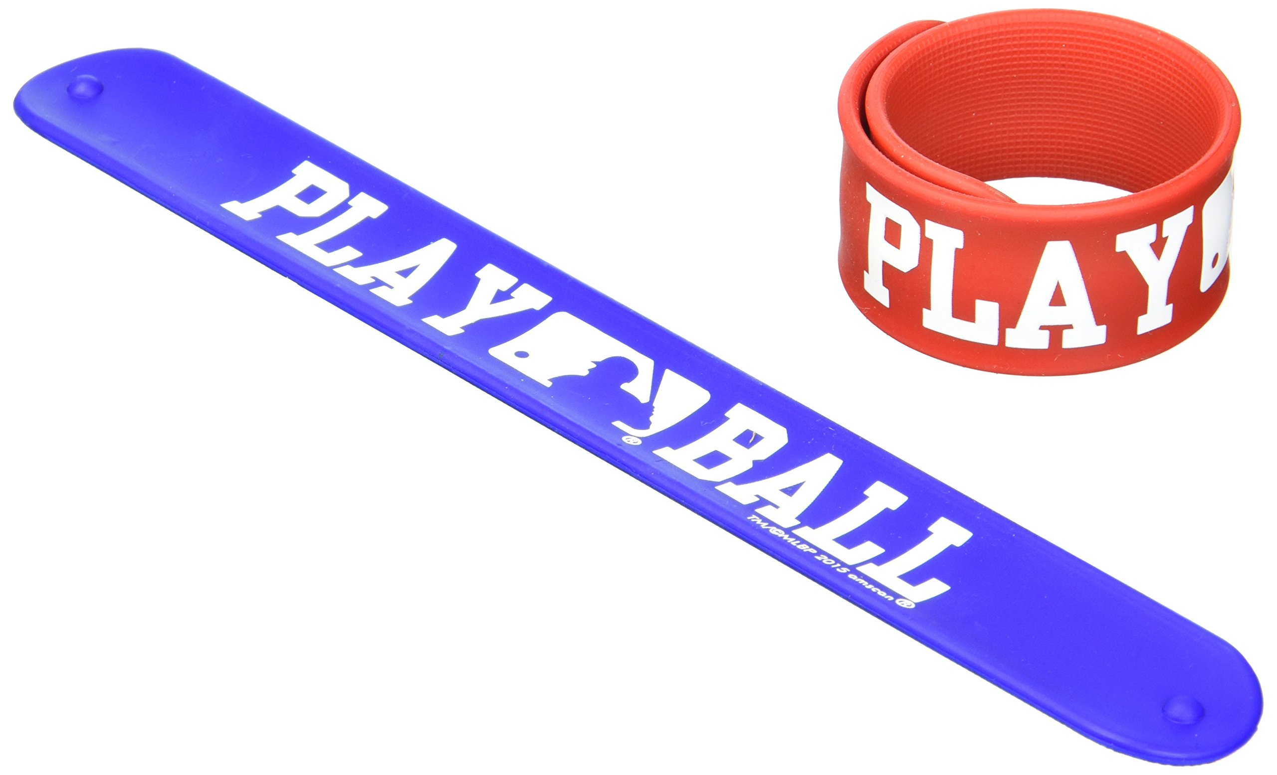 Amscan Mlb Slap Bracelet Childrens Party Table Centerpieces, Red and Blue