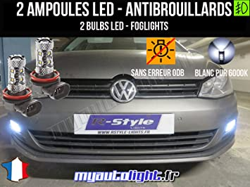 Bombillas LEDs antibrouillards para Volkswagen Golf 7: Amazon.es: Coche y moto