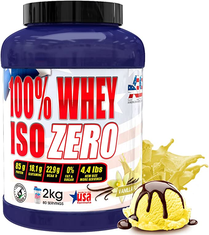 OFERTA!! Liquidación imagen anterior, Iso Zero proteína American Suplement - 2kg - Vainilla