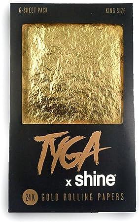 Tyga X Shine 24 K oro tamaño King papel de liar elegir de 1, de papel Documentos de 3 o 6 (Full Pack): Amazon.es: Hogar