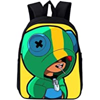 Summer Explosions Wild Brawl Stars Backpack Primary and Secondary School Students Wear-resistant Burden-reducing Bags (1,16inch)