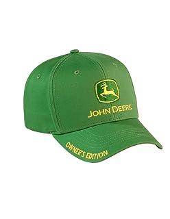 d636619f65de5 Amazon.com  NEW John Deere Black Twill Tall Front JD Cap Hat LP14415 ...