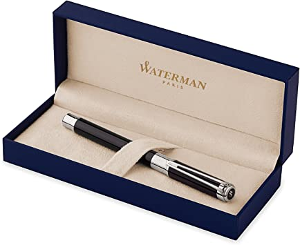 Waterman Perspective Ballpoint Pen Black Chrome Trim