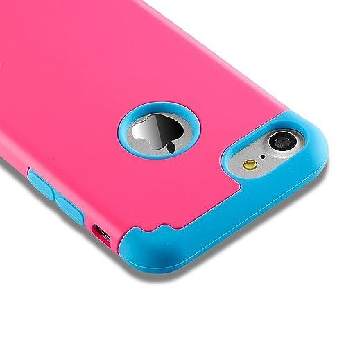29 opinioni per Cover iPhone 7, Cover iPhone 8, Custodia Duplice Ibrido Duro Pc+ Silicone