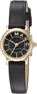 Marc Jacobs Women's 'Roxy' Quartz Stainless Steel and Leather Casual Watch, Color:Black (Model: MJ1585)