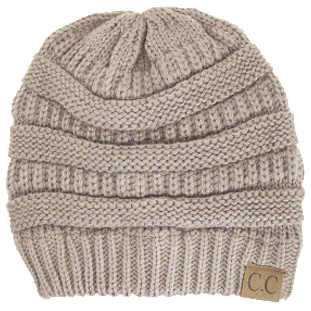 4d76da287 CC Women's Thick Soft Knit Beanie Cap Hat
