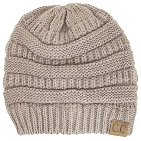 f7568ab3892 Thick Slouchy Knit Oversized Beanie Cap Hat