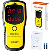 Digital Formaldehyde Detector HCHO (Formaldehyde) and TVOC (Total volatile organic compounds) Meter Indoor Air Quality Tester Battery Included