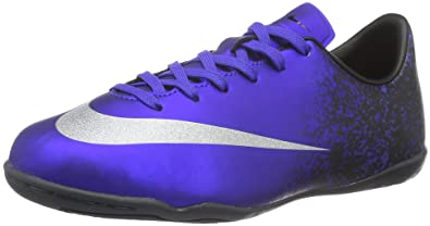 a5847637956 Nike Youth MercurialX Victory V Ronaldo Indoor Shoes  DEEP Royal Blue  (10C)
