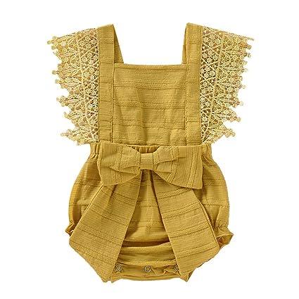 5d0211dd0ef89 Baby Romper luhan Newborn Infant Baby Girl Boy Solid Lace Bow Short ...