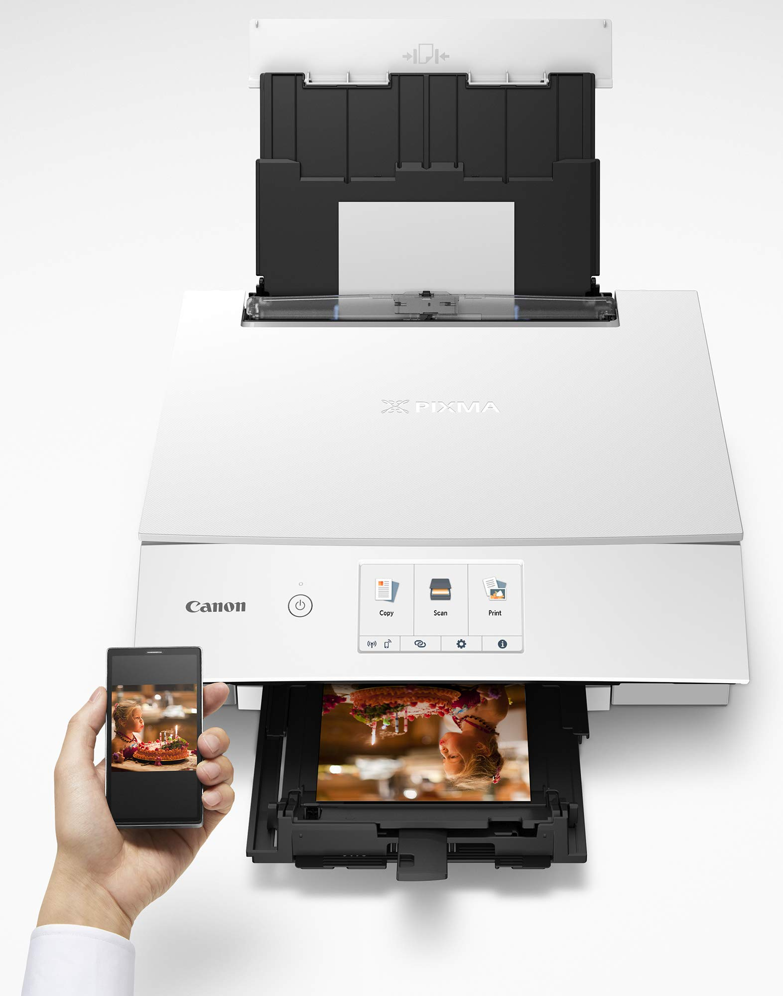Canon TS8220 Wireless All in One Photo Printer with Scannier and Copier, Mobile Printing, White by Canon (Image #5)