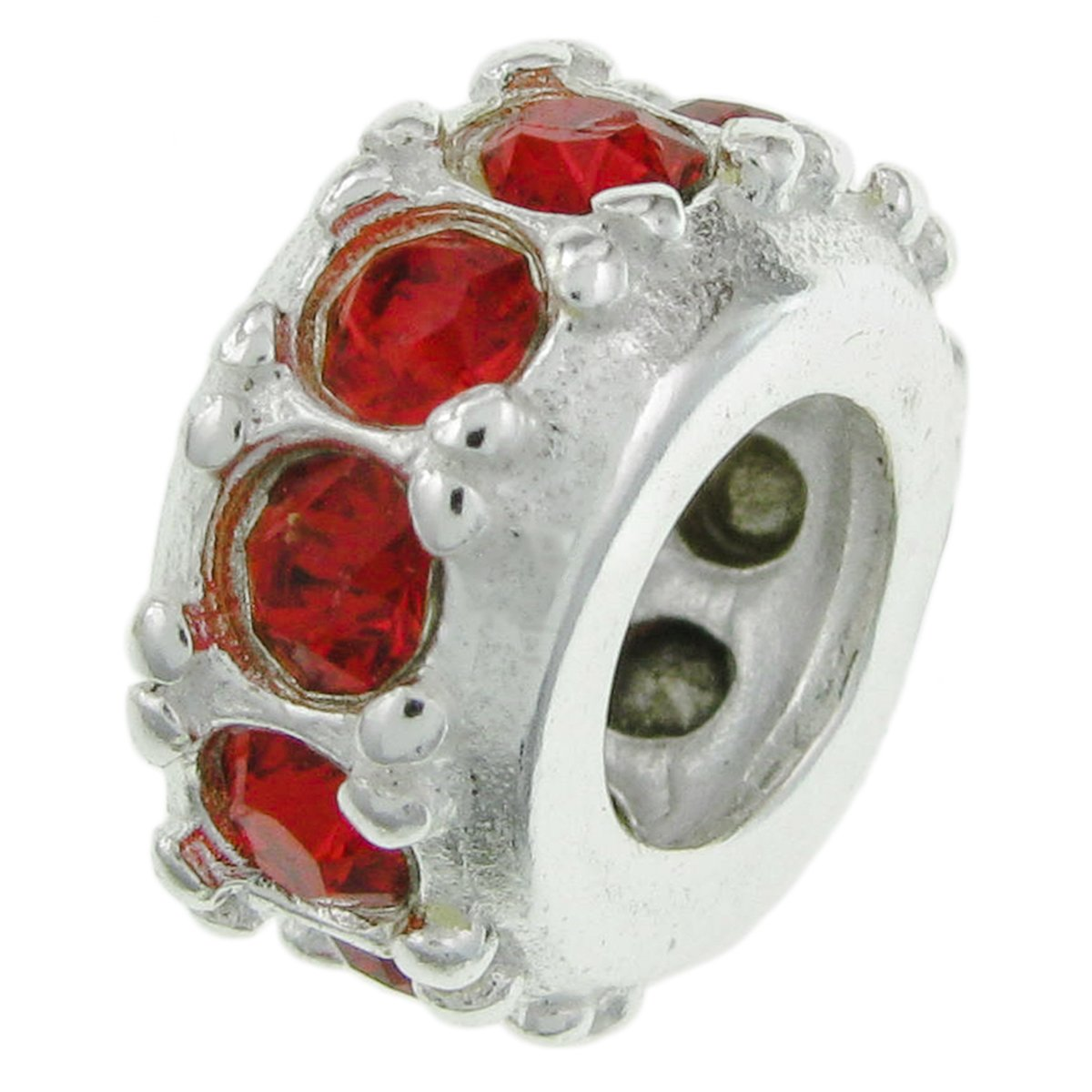 925-Sterling-Silver-Birthday-Month-Round-Ring-Crystal-Bead-For-European-Charm-Bracelets