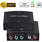 Component to HDMI Adapter, YPbPr to HDMI Coverter + R/L, NEWCARE Component 5RCA RGB to HDMI Converter Adapter, Supports…