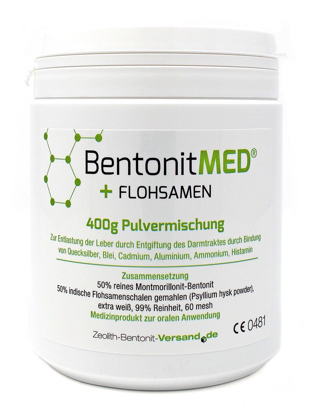 Bentonit MED + Flohsamen Pulvermischung 400 g