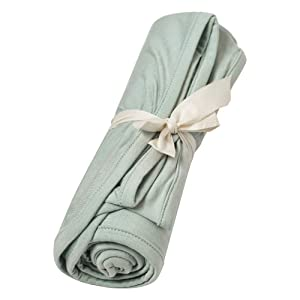 Kyte BABY Organic Bamboo Rayon Swaddling Blankets - Buttery Soft Stretchy Breathable Swaddles for Baby (Sage)
