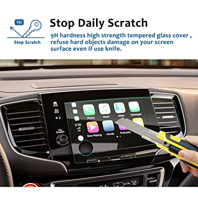 LFOTPP Car Navigation Screen Protector for 2020 Passport 8-Inch, Tempered Glass 9H Hardness Car Infotainment Display Center Touch Protective Film Scratch-Resistant [5Bkhe1003168]