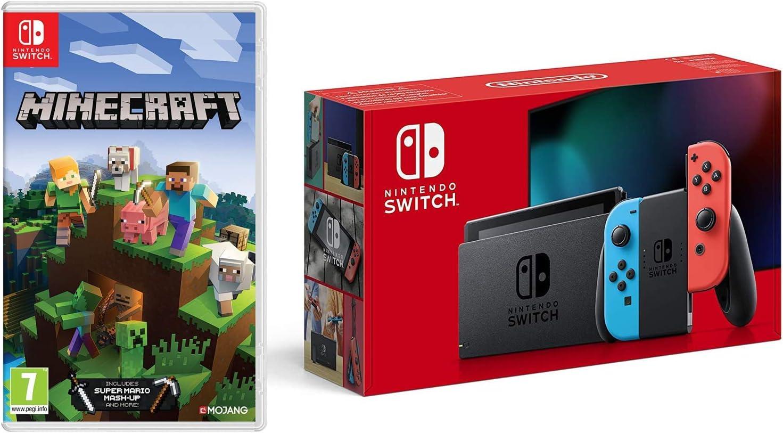 Nintendo Switch (Neon Red/Neon Blue) + Minecraft (Nintendo Switch
