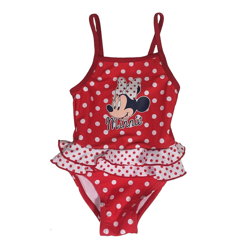 Minnie Costume da Bagno 12-18 - 24-36 Mesi Disney Estate 2018 Rosso 1)
