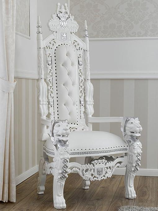 Simone Guarracino Trono stile Barocco Moderno poltrona reale bianco ...