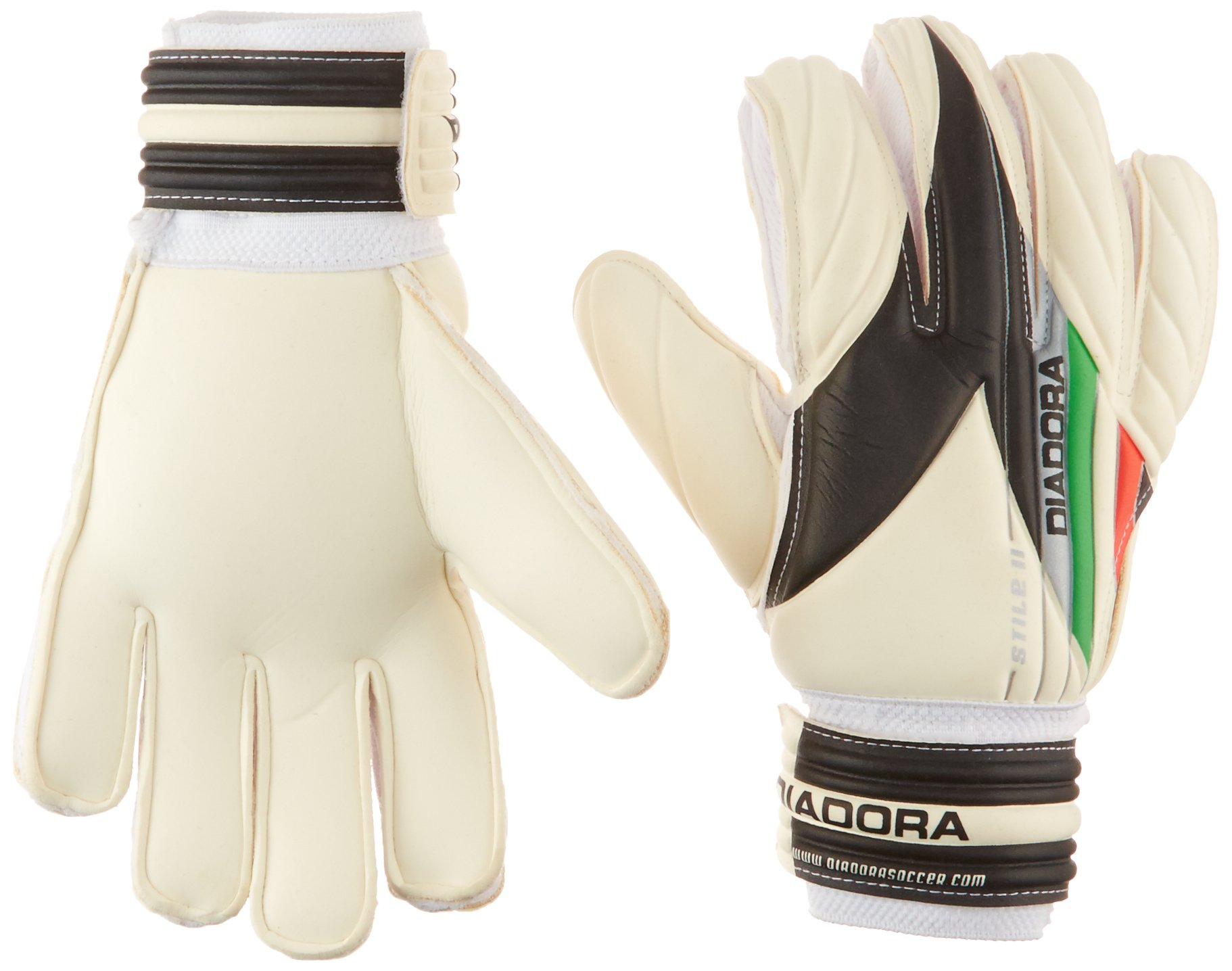Diadora Soccer 861013-10 Stile II Junior Goal Keeper Gloves, 5