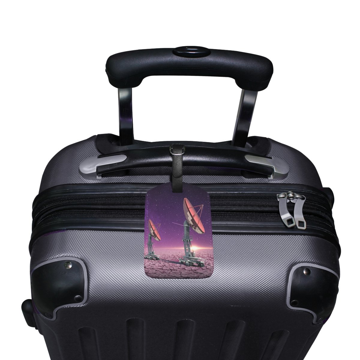 1Pcs Saobao Travel Luggage Tag Creative Star Radar Map PU Leather Baggage Suitcase Travel ID Bag Tag