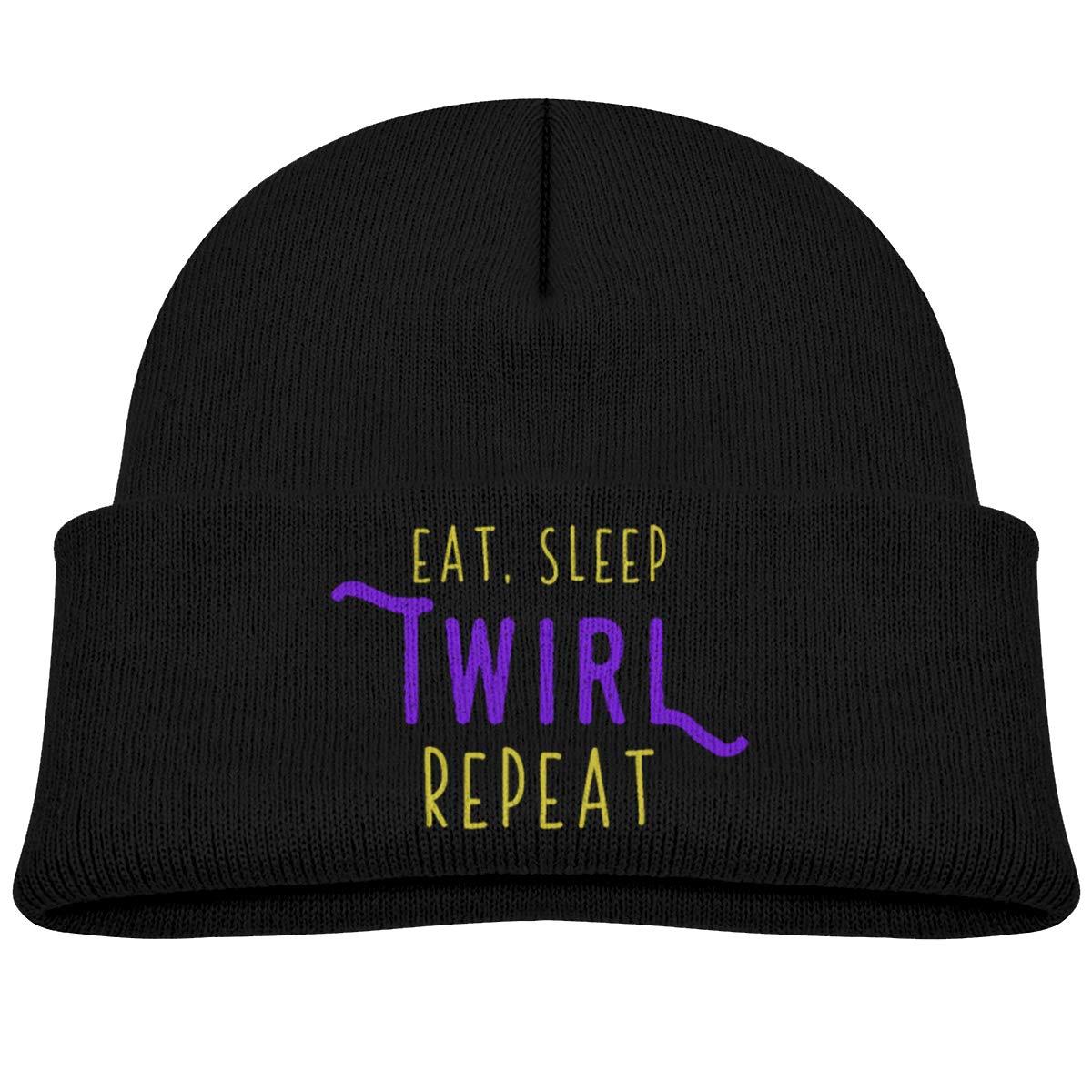 Eat Sleep Twirl Repeat Beanie Hat Baby Girl Boy