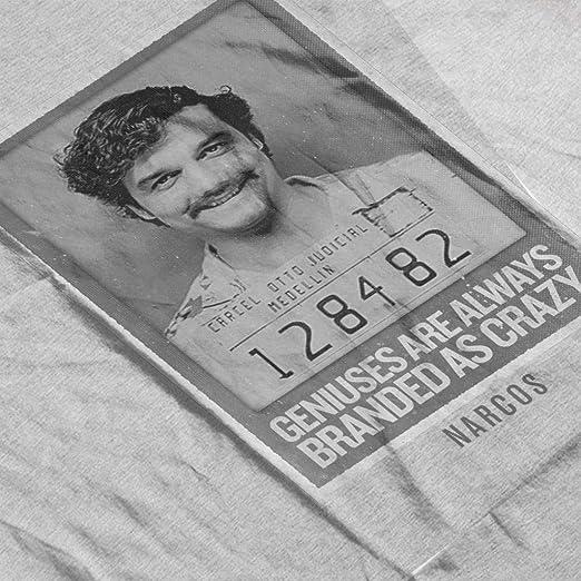 Amazon.com: Narcos Pablo Crazy Genius Mens T-Shirt: Clothing