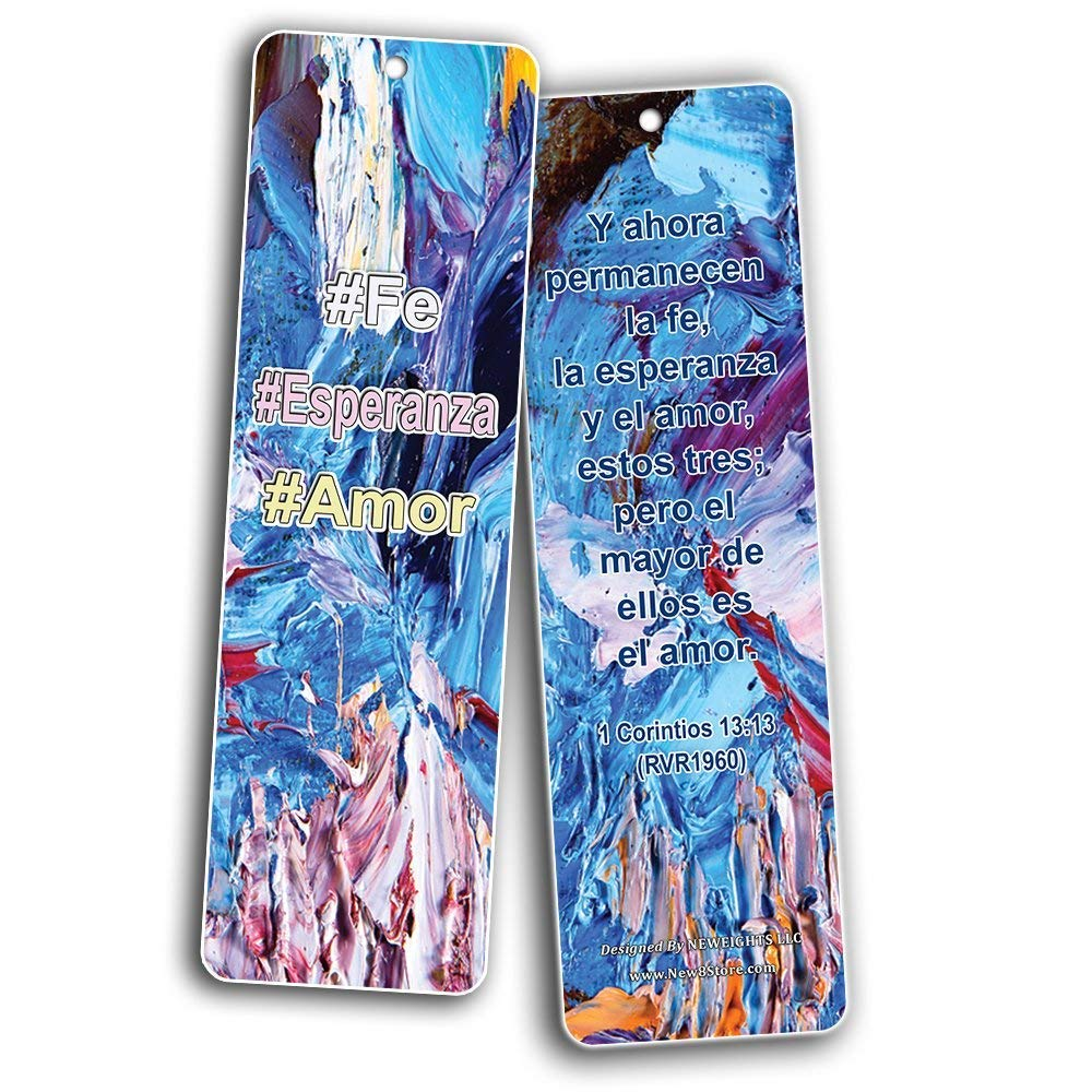 Spanish Favorite Bible Verses Bookmarks (60 Pack) - Bulk Collection & Gift with Inspirational, Motivational, Encouragement Messages by NewEights (Image #8)
