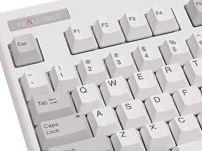 昇華印刷ホワイトのRealforce。視認性が良く、耐久性も高い。