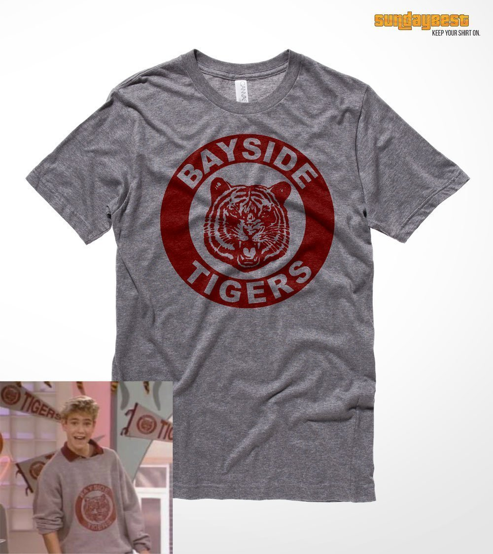 Saved by the Bell TV Show BAYSIDE TIGERS Vintage Style BOYS /& GIRLS T-Shirt S-XL